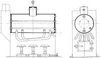 Liegender Dampfkessel mit Gasfeuerung