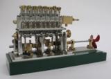 4-Zylinder-Dampfmotor