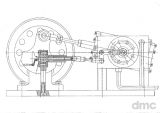 hf-OSZ 39/60a - oszillierende 1-Zylinder-Dampfmaschine