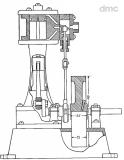 1-Zylinder-Schiffsdampfmaschine