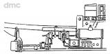 Oszillierende Schiffsdampfmaschine mit liegendem Kessel