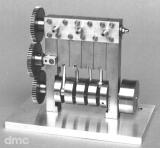Oszillierende 4-Zylinder-Dampfmaschine mit Ventilwelle