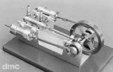 Doppelseitige 2-Zylinder-Dampfmaschine