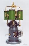 Quattro - kolbengesteuerte 4-Zylinder-Dampfmaschine